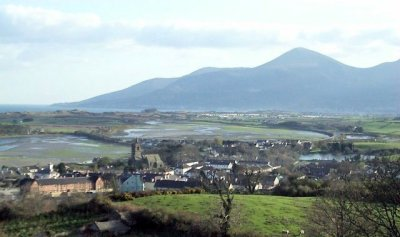 Dundrum Bay and the Mourne Mountains from Dundrum Castle